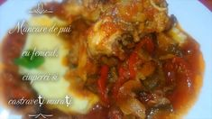 Mancare de pui cu fenicul, ciuperci si castraveti murati Beef, Make It Yourself, Food, Meat, Essen, Meals, Yemek, Eten, Steak