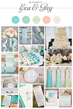 A tropical ombre wedding mood board http://www.manifestevents.com