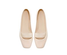 leather ballerina flats / zara - would be great if these also come in black