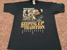 Coach Mike Holmgren Green Bay Packers T-Shirt XL Keeping Up The Tradition…