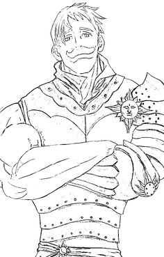Escanor (Nanatsu no taizai) para colorear e imprimir Otaku Anime, Manga Anime, Anime Art, Seven Deadly Sins Anime, 7 Deadly Sins, Chibi Sketch, Anime Sketch, Lapin Art, Seven Deady Sins