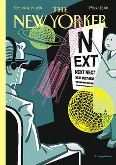 Spiegelman - The New Yorker - Monday, October 1997 - Issue # 3772 - Vol. 73 - N° 32 - « The Next Issue The New Yorker, New Yorker Covers, Magazine Cover Page, Magazine Art, Magazine Design, Cover Pages, Cover Art, Art Spiegelman, Retro Futurism