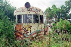 ARQUEOLOGÍA FERROVIARIA: Cementerio de trenes, Estación Cruz del Eje, Córdoba, Argentina