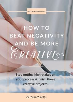 Stop putting high stakes on your process and finish those creative projects.