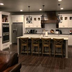 Great Kitchen Lighting Concept! #kitchenlighting #kitchendesign