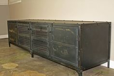 Vintage Industrial Media Console/Credenza/TV Stand by leecowen, $1475.00