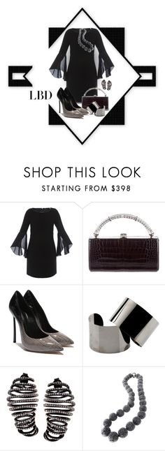 """""""Little Black Dress... New Contest in True Beauty"""" by marvy1 ❤ liked on Polyvore featuring Elie Tahari, Judith Leiber, Maison Margiela and Plukka"""