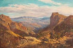 Gabriel Cornelis de Jongh FAR HORIZONS, BASUTOLAND signed, inscribed with the title on the reverse oil on canvas South Africa Art, African Paintings, South African Artists, All Art, Illustrations Posters, Gabriel, Oil On Canvas, Arizona, Landscapes