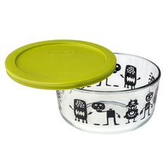 3e44f0b17d Pyrex Simply Store 4 Cup Monsters & Pumpkin Storage Dish w/ Green Lid #