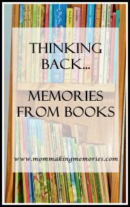 I enjoy reading, but more than that… I love books. The paper ones that you can open and page through. Join me as I remember books @ www.mommakingmemories.com
