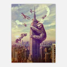 Fab.com | Slothzilla Poster