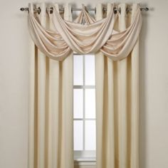 Shop for odyssey insulating window panels at Bed Bath & Beyond. Buy top selling products like Insola™ Odyssey Insulating Window Curtain Panel and undefined. Room Darkening Curtains, Drapes Curtains, Valances, Bedroom Drapes, Master Bedrooms, Drapery, Rideaux Design, Waterfall Valance, Beautiful Curtains