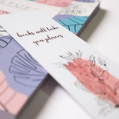 We've been talking about our notebooks and journals a lot. But did you know they pair perfectly with our bookmarks? Buy one bookmark for… Notebooks, Journals, Bookmarks, This Is Us, Stationery, Hearts, Prints, Stuff To Buy, Design