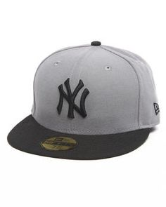 New Era | New York Yankees Grey/Black 5950 Fitted Hat. Get it at DrJays.com
