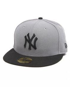 New Era | New York Yankees Grey/Black 5950 Fitted Hat. Get it at DrJays.com