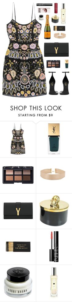 """""""party time"""" by sallizzlmynizzl ❤ liked on Polyvore featuring Needle & Thread, Yves Saint Laurent, NARS Cosmetics, D.L. & Co., Jayson Home, Bobbi Brown Cosmetics, Jo Malone and Fresh"""