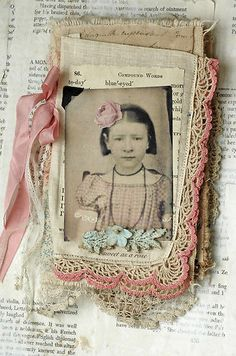 Mixed Media Fabric Collage Book