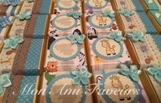 Wrapped Belgian chocolates in Elephant and Giraffe safari theme for a sweet mom to be and her little King of the Jungle.
