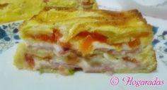 Milhojas de calabacín con jamón y queso en la Comunidad de Cocina - Hogarutil.com