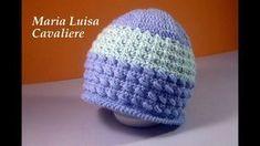 Cappello punto virgole e incroci doppi all'uncinetto tutorial - YouTube Crochet Baby, Knit Crochet, Crochet Videos, Crochet Stitches, Knitted Hats, Beanie, Knitting, Pattern, Bonnets