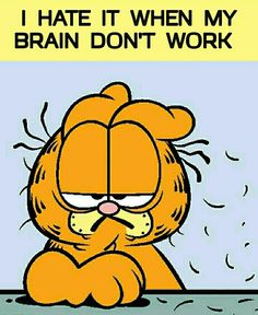 My favourite Garfield quote! Frases Garfield, Garfield Quotes, Garfield Cartoon, Garfield And Odie, Garfield Comics, Cartoon Jokes, Old Cartoons, Funny Jokes, Cartoon Characters