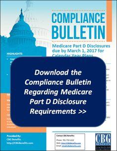 Medicare Part D Disclosure to CMS: March 1, 2017 Deadline Reminder