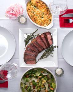 Steak Dinner for Two  Scalloped Potatoes  Bacon Avocado Caesar Salad  Garlic Buttered Steak