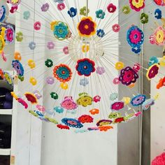 Crochet Lamp, Diy And Crafts, Arts And Crafts, Ikea Lamp, Colorful Interiors, Crochet Projects, Art For Kids, Projects To Try, Creations