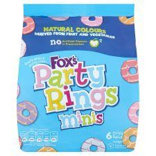 Fox's Mini Party Rings 6 Pack