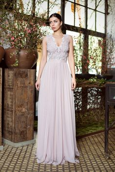 Lavender tulle dress with beaded lace / embroidery / tulle and beads gown / Rochie din tulle si dantela brodata cu margele - Maigre Couture Beaded Gown, Beaded Lace, Lace Embroidery, Bridesmaid Dresses, Wedding Dresses, Tulle Dress, Gowns, Couture, Beads