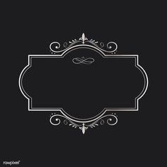 Vector Design, Logo Design, Frame Border Design, Wedding Invitation Background, Banners, Image Sites, Infinity Tattoos, Luxury Logo, Black And White Landscape