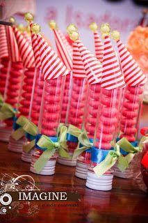 É hora do parabéns: ideias incríveis com o tema Circo - Carnival Birthday Parties, Circus Birthday, Birthday Chocolates, Fiesta Party, Vintage Party, Childrens Party, Party Planning, Party Favors, Party Supplies