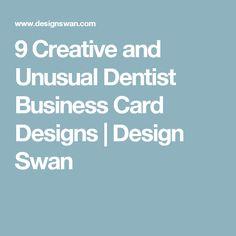 9 Creative and Unusual Dentist Business Card Designs | Design Swan