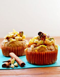 """Vegan baklava cupcakes. This blogger is a vegan genius. When the cookbook comes out and he shoots straight into the spotlight, I am going to be able to say """"I commented on his blog WAY back when..."""""""