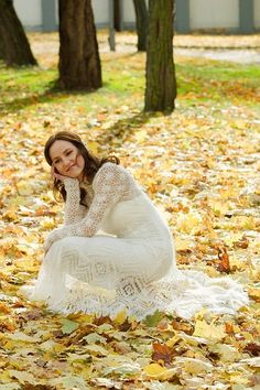 Hand-Knit Wedding Gown