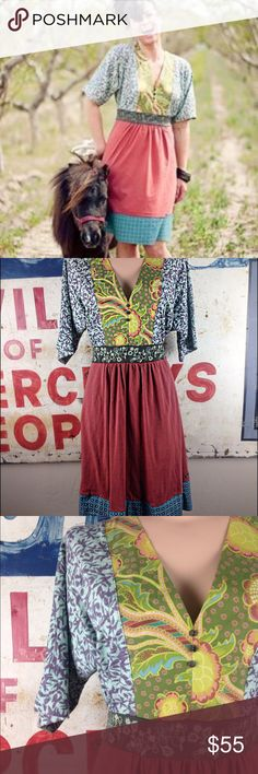 "NWOT Matilda Jane Bohemian Dress Sz Medium 38"" L Dolman sleeves Top is 100% cotton Bottom is 95% cotton and 5% spandex  Never worn Matilda Jane Dresses"