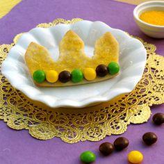 Big Daddy's Mardi Gras Crown Cookies