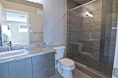 Master bathroom, shower with glass doors