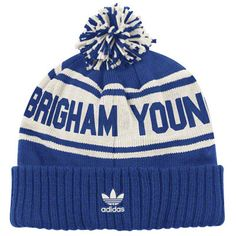 Youth Atlanta Falcons  Navy Blue Cuffed Knit Hat with Pom