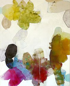 Meredith Pardue, Shadows of the Flatland II 2012, Ink, oil, oil crayon, and charcoal on canvas