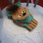 Handmade Knit Puppet Woof-Woof the Dog