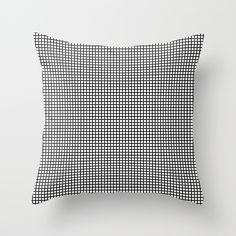 Black On White Grid - Pattern Throw Pillow