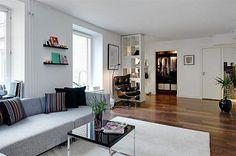 74nm-es modern lakás, stílusos, tágas lakberendezéssel
