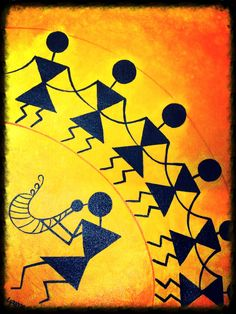 Simple Warli Painting For Kids Google Search Warli Painting