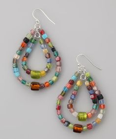 Mosaic Graduated Teardrop Earrings | Daily deals for moms, babies and kids