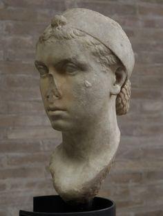 Portrait of Cleopatra VII (?). Marble. 40—30 BCE. Inv. No. 38511. Rome, Vatican Museums, Gregorian Profane Museum