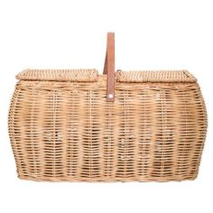 Bloomingville Rattan Picnic Basket ($78) ❤ liked on Polyvore featuring home, kitchen & dining and bloomingville
