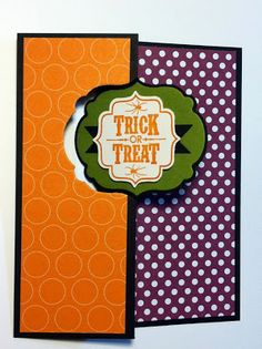 Create with Gwen, Stampin' Up! Demonstrator, Gwen Edelman, Create with Gwen: Halloween Label Thinlits Swing Card!