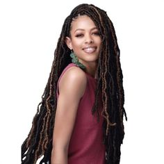 """Nu Locs 24"""" 2X African Roots Synthetic Crochet Braid Hair By Bobbi Bos – Waba Hair and Beauty Supply Crochet Locs Hair, Crochet Braids Hairstyles, Dreadlock Hairstyles, Braided Hairstyles, Bobbi Boss Hair, New Hair, Your Hair, Hippie Braids, Dreadlock Styles"""