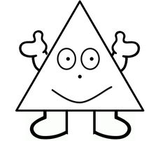 Vormenmannetje - driehoek